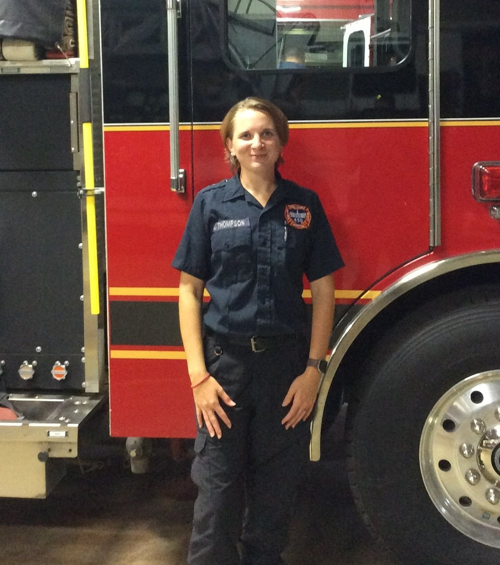 - Ashley Thompson- Assistant Chief 452Firefighter II, Advanced EMT- Paramedic Student