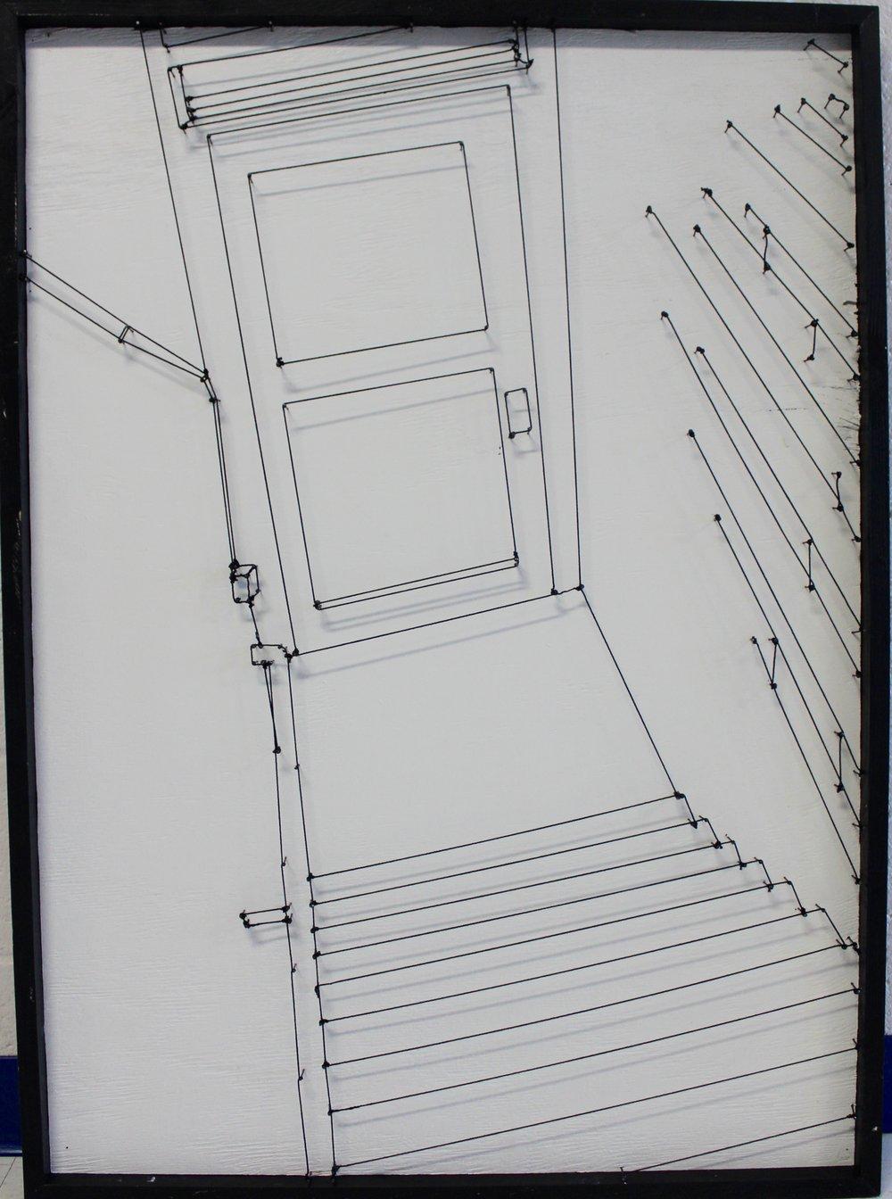 "Cory Gamblin (Salem High School), ""Descending Staircase,"" 2018"