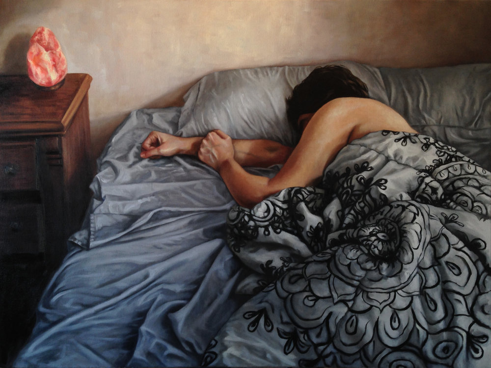 "1st Place: Natalie Baldeon, ""Reclusion,"" oil on canvas"