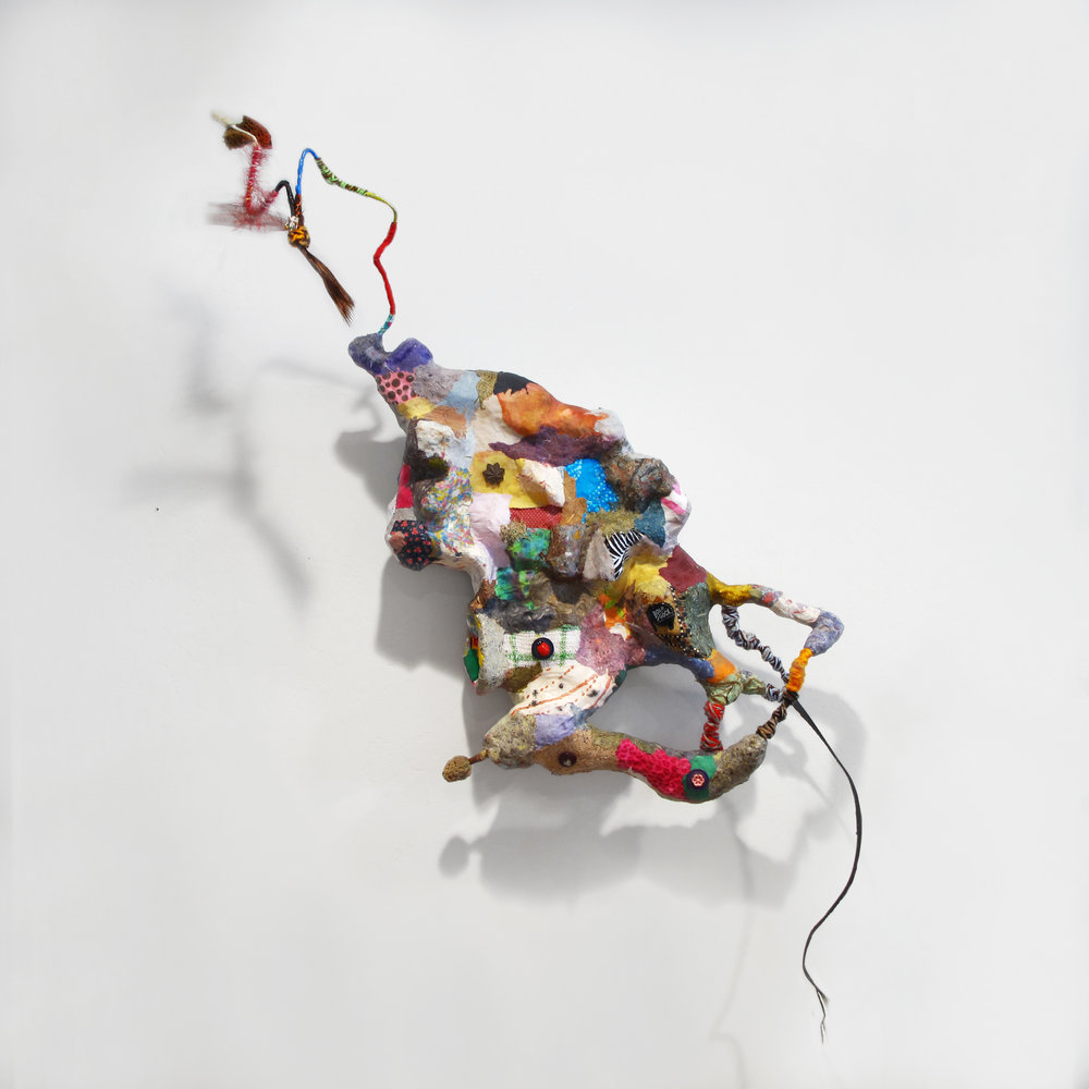 "Gina Herrera , ""A Relentless Presence,""  Assorted Found Materials"