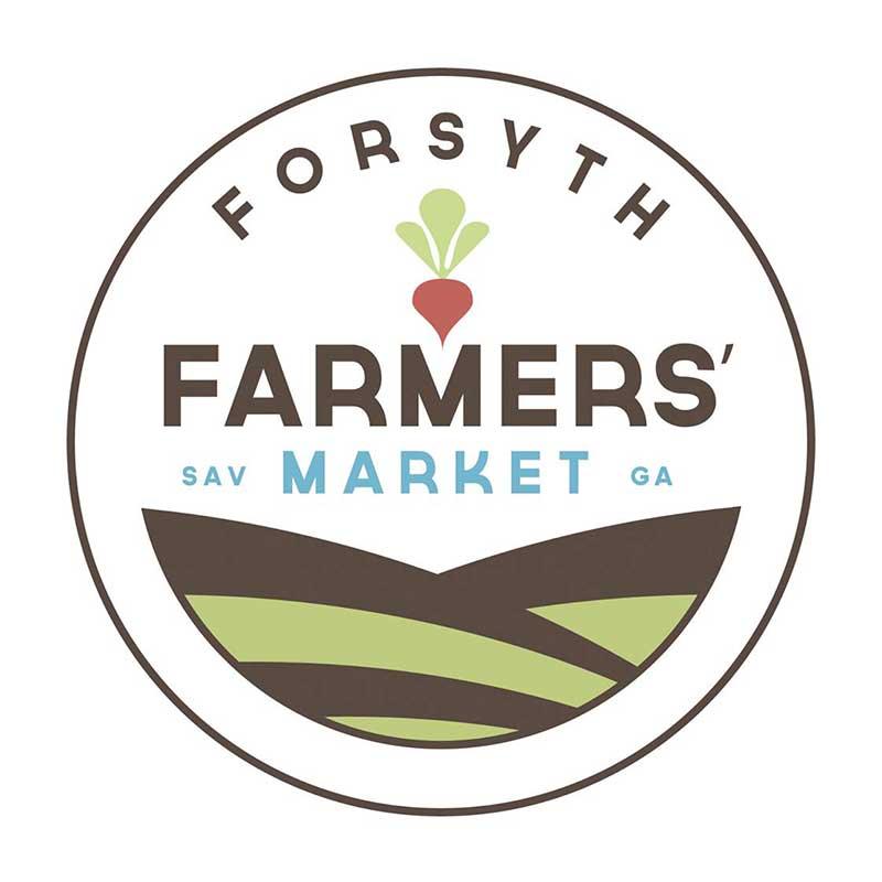 Forsyth Farmers Market    Year round  Saturdays 9 am – 1 pm  1 East Park Avenue, on the South End of Forsyth Park in Savannah, GA 31401  Contact: Jed Bush  forsythfarmersmarket@gmail.com
