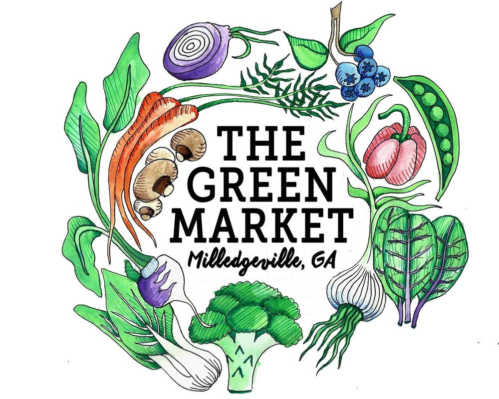 The Green Market @ Milledgeville     Year round  Saturdays, 9 am - 12 pm  222 E. Hancock St., Milledgeville, Ga 31061  Contact: Megan Elizabeth Goetz  greenmarketmilledgeville@gmail.com