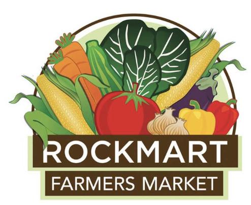 Rockmart Farmers Market    Year round  Thursdays 2 pm- 6pm  108 Water St., Rockmart, GA, 30153  Contact: Shonna Kirkpatrick  RockmartFarmersMarket@gmail.com