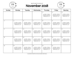 Calendar Shelbie L Fitness Nutrition