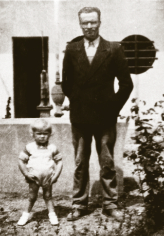Luis with his father, 1936.