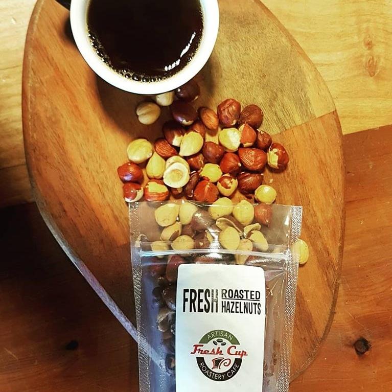 freshly roasted hazlenuts