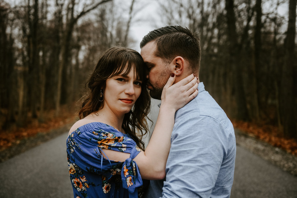Rainy day engagement session Cleveland Wedding Photographer Ohio WEdding Photographers