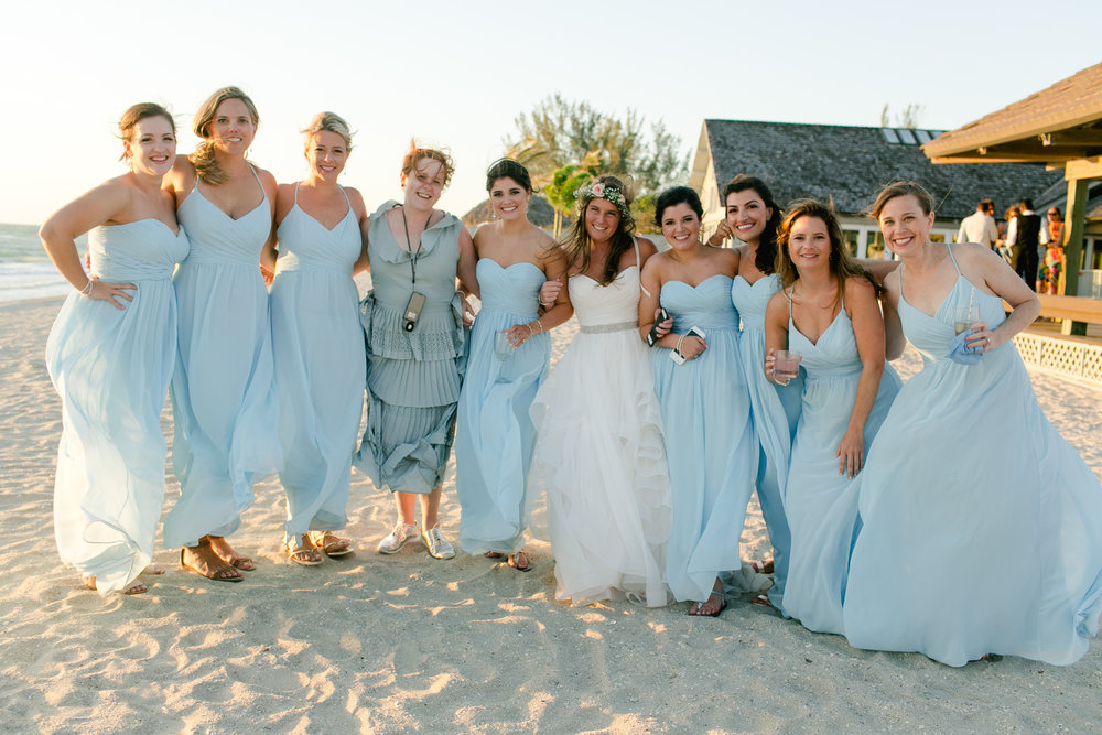 florida bridesmaids beach
