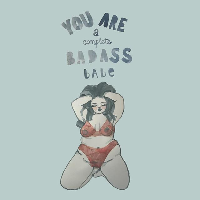 Art by @tayneetinsley Get this sexy illustration in Taynee's 2019 calendar on Etsy(link in her bio). . . Tag #womenofillustration for a chance to be featured or become a Patron for a paid promo. . . #femaleartist #drawdrawdraw #effyourbeautystandards #bodyposi #bopo #bodypositiveart #plussizeart #takeupspace #losehatenotweight #smashthepatriarchy #riotsnotdiets #feministart #feministasfuck #radicalselflove #allbodiesaregoodbodies #selflovejourney #bodyacceptance #fatpositive #youareenough #thickthighssavelives #empoweredwomenempowerwomen #lifteachotherup #youareaqueen #bossbabe #grrl #lovetheskinyourein #bodydiversity #youarepowerful #representationmatters