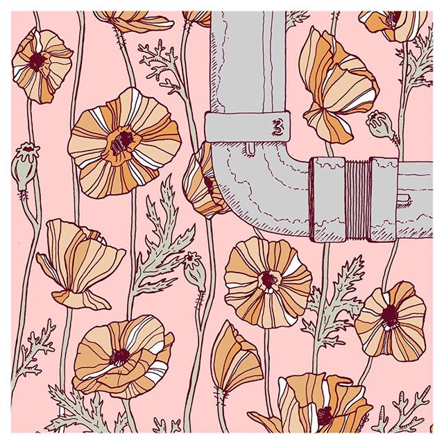 Art by the amazing @studiododge Head over to her website for prints and stickers(link in her bio). . . Tag #womenofillustration for a chance to be featured or become a Patron for a paid promo. . . #poppy #florals #floralillustration #flowerdesign #pipedream #industrialart #colorscheme #colorpalette #patreonartist #patreoncreator #seattleartist #seattleart #homeinspiration #newartwork #femalefounders #radicalgirlgang #r29regram #forwomenwhoroar #artistlife #artistlifestyle #originalillustration #supportartists #studiododge #floralpattern #handdrawn #illustrationartist  #womenwhodraw #womenwithpencils #digitalillustration