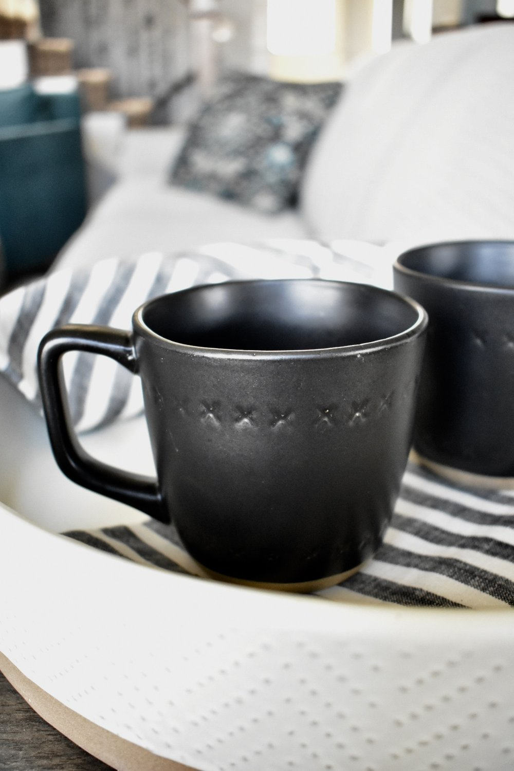 On The Paige Blog | Styling Hearth & Hand with Magnolia | Stoneware Mugs | Farmhouse | Rustic | Coffee