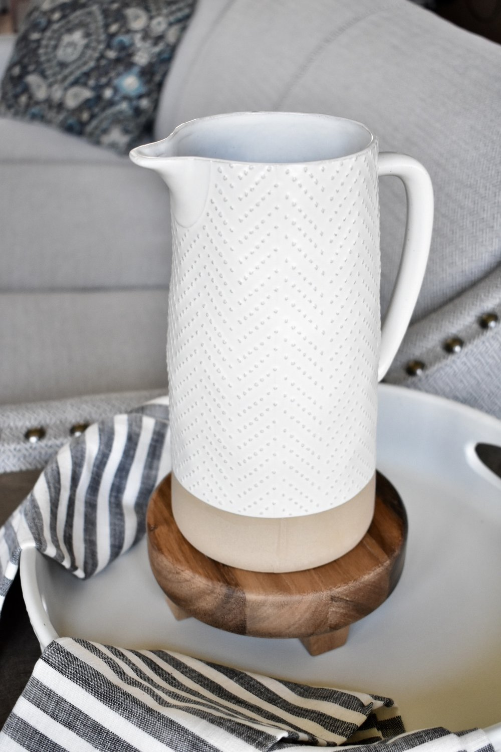 On The Paige Blog | Styling Hearth & Hand with Magnolia | Stoneware Pitcher | Rustic Modern Farmhouse Kitchen