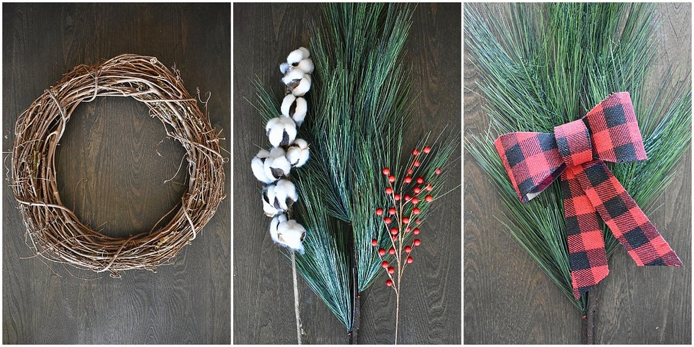 On The Paige Blog | Simple DIY Christmas Wreath | Wreath Supplies
