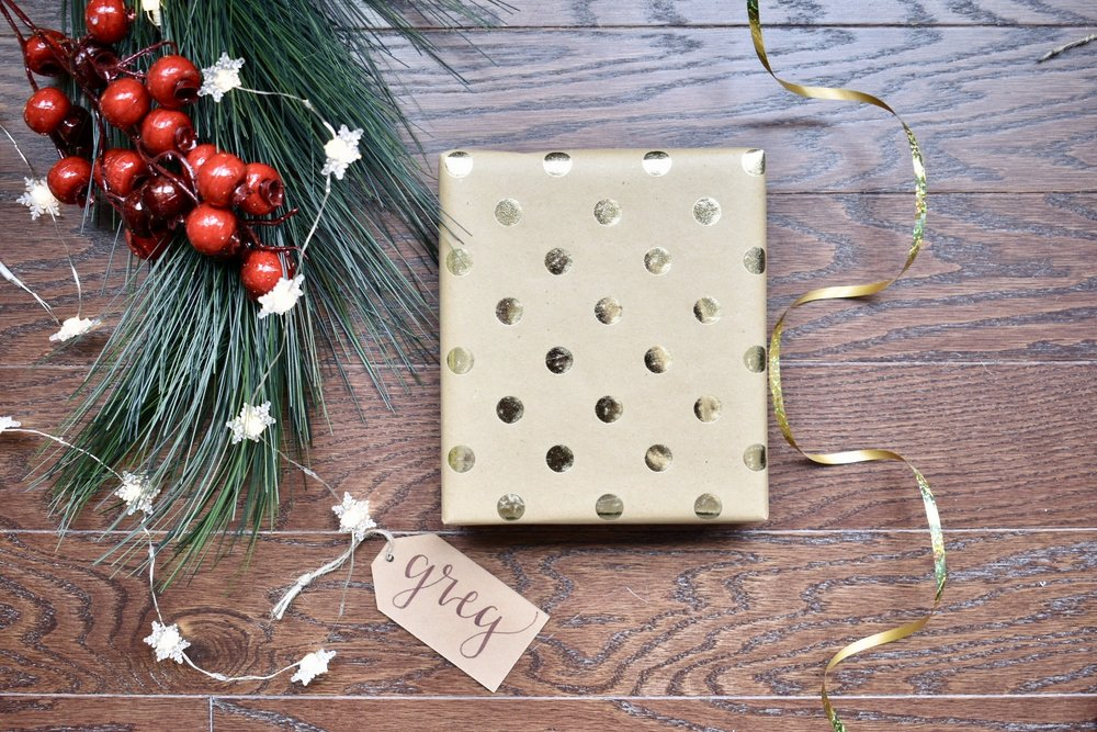 Festive Christmas Wrapping | On The Paige Blog