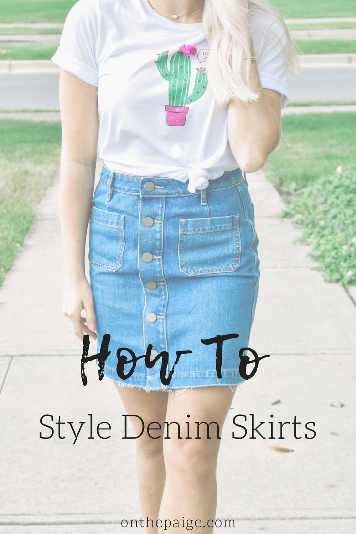 How to Style Denim Skirts | Fashion Trends | Summer Fashion | Graphic Tees