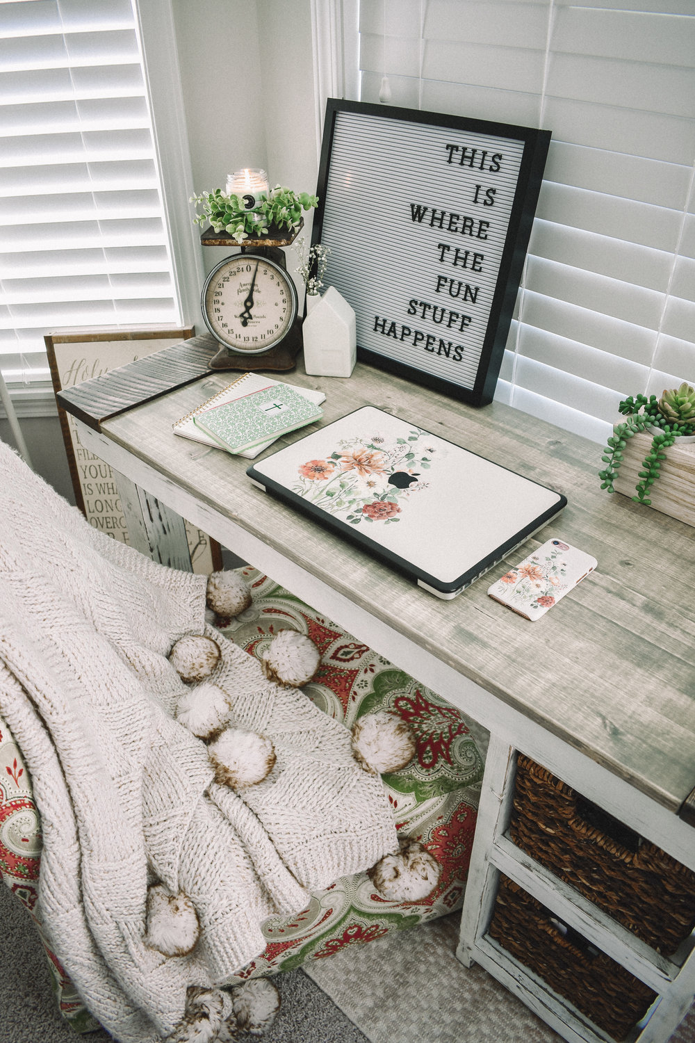 Welcome to My Work Space | Office Goals | Desk Decor | Desk Goals | Home Decor | Antique Decor | Distressed Decor | Work From Home