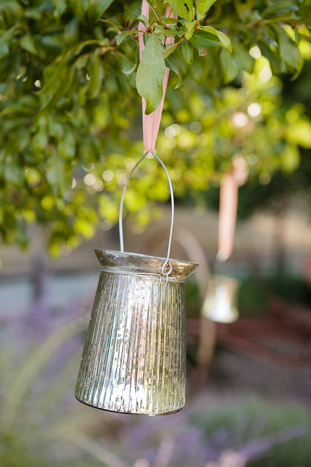"""5"""" Mercury Glass Hanging Votives  $3 per day  Six Available.  Photo By: Jen Philips Photography"""
