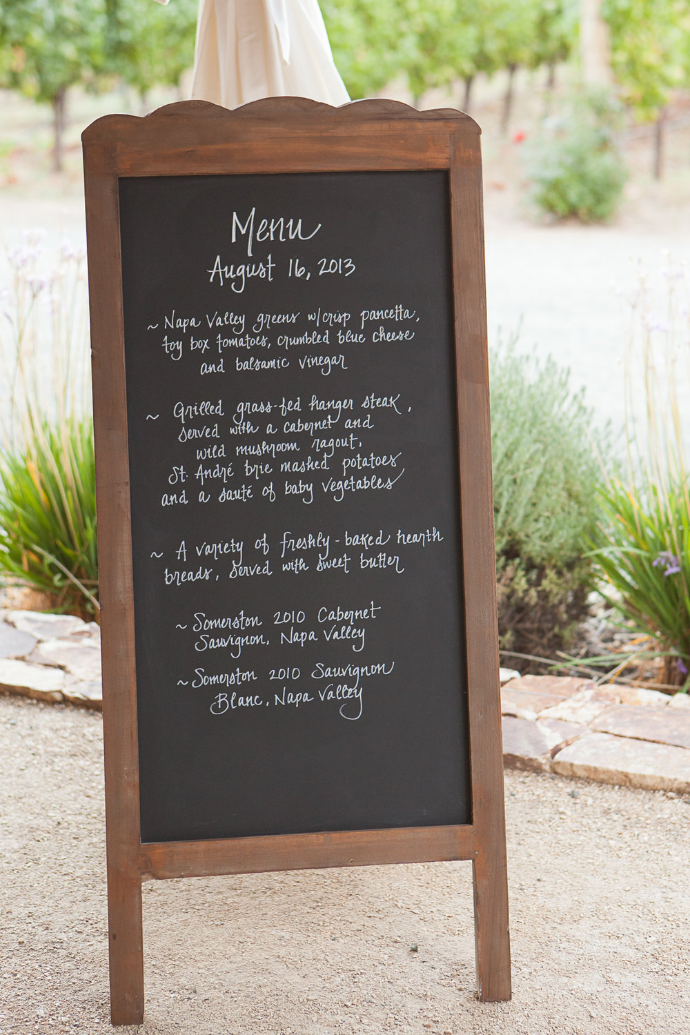 Cement Washed Medium Easel Chalkboard