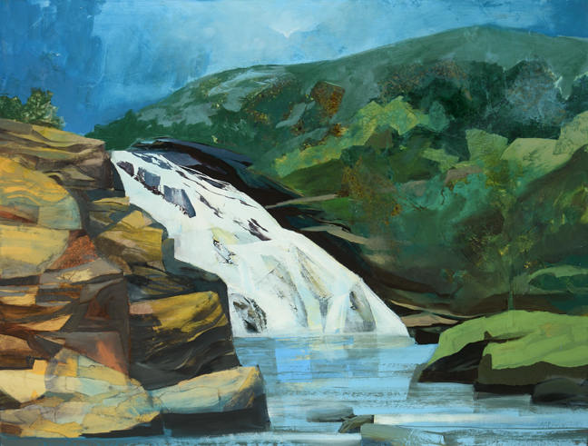 Emerson Falls, The Storm Passes, 2015,  Family Dining Room at The Jack Byrne Center for Palliative and Hospice Care at Dartmouth Hitchcock Medical Center, Lebanon, NH