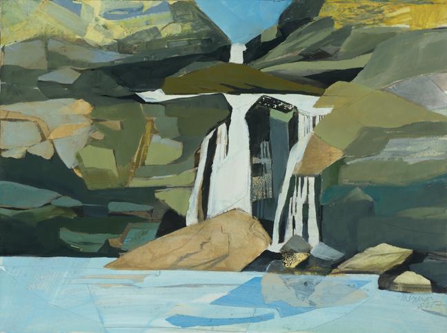 - Chasing Waterfalls, Drop Onto the Fallen Rock, 2017Mixed Media on wood panel, 12 X 16