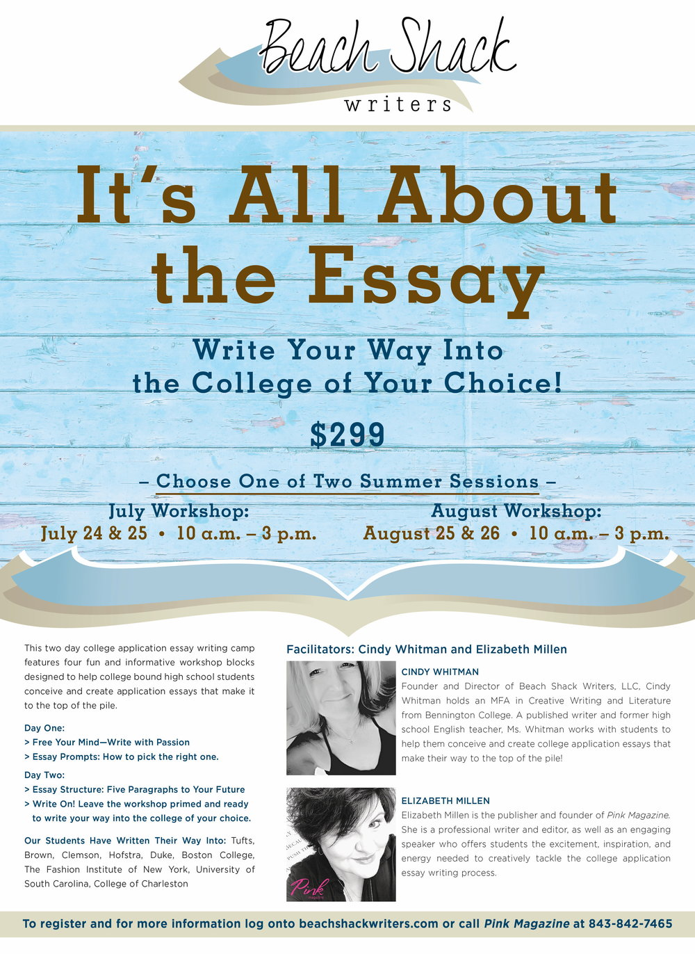 beach shack baby high school student sponsor  beach shack writers bsw essay camp flyerjpg