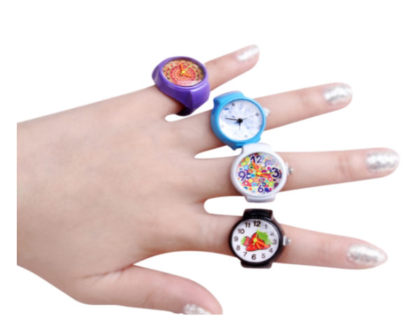 Girl's Fashion Watchring - Includes: - variety of colors - very small item, not recommended for children under the age of 5 years - stainless steel casing and stretch band - various styles available and listed below:$1.50 Shipping Cost