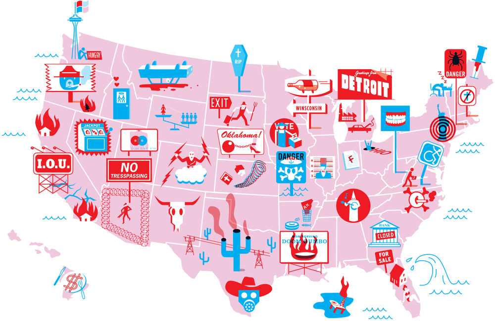 The Worst States in America, GQ, 2006.