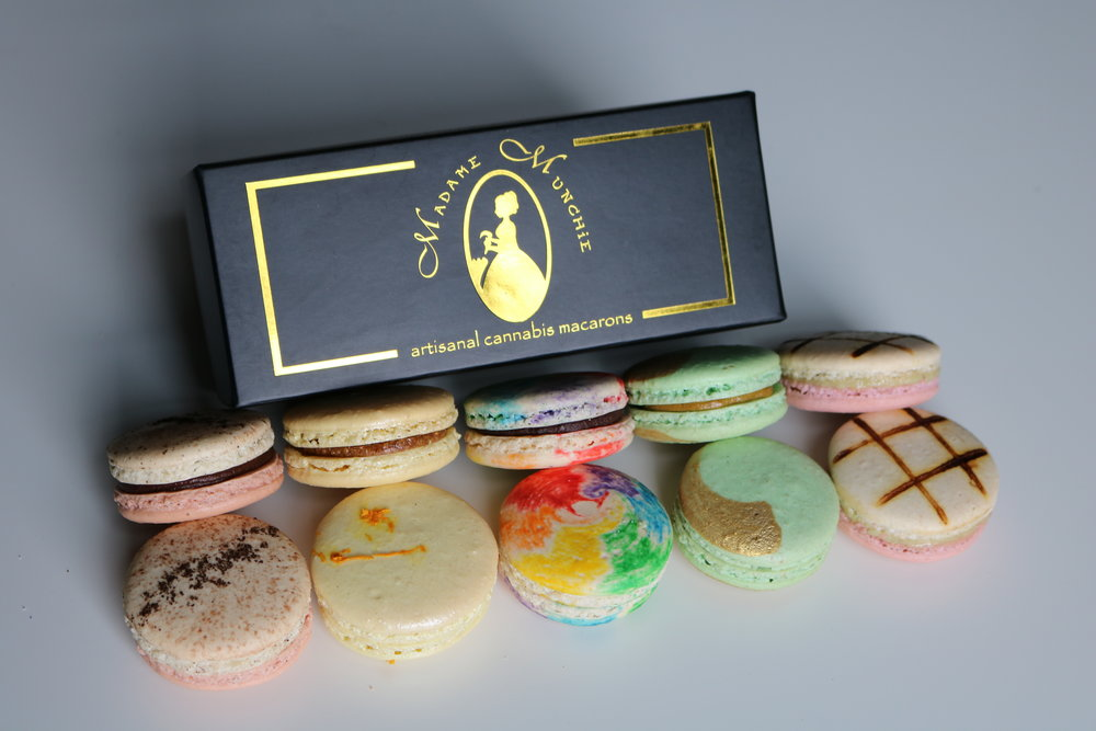 Variety box - comes with one of each flavor (5 macarons) - 100mg THC