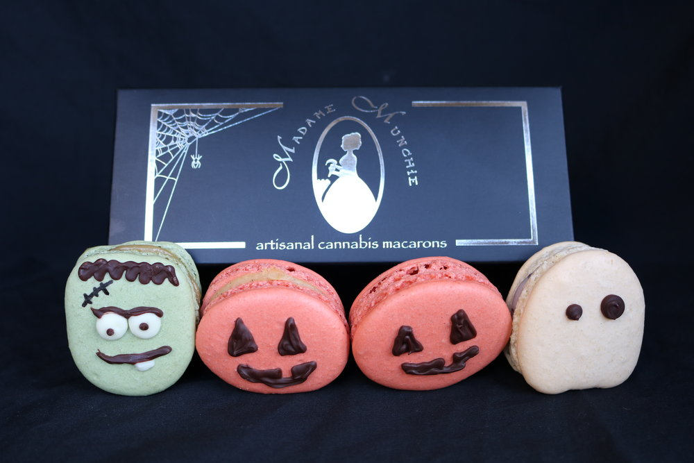 Halloweed box - 4 macarons - 80mg THC