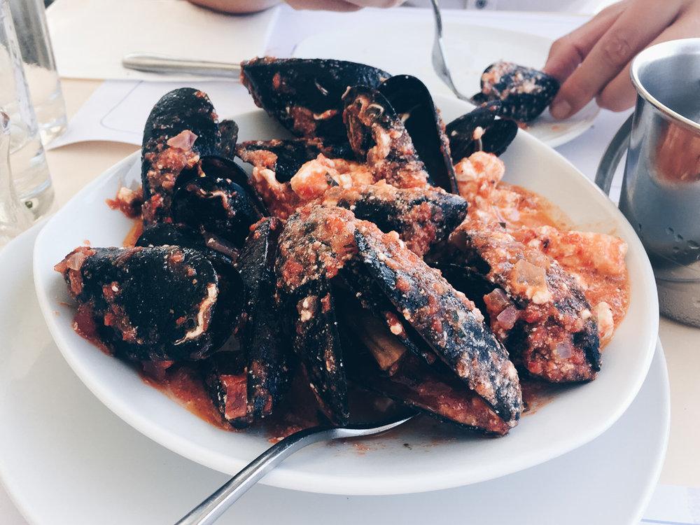 Paros restaurants mussels