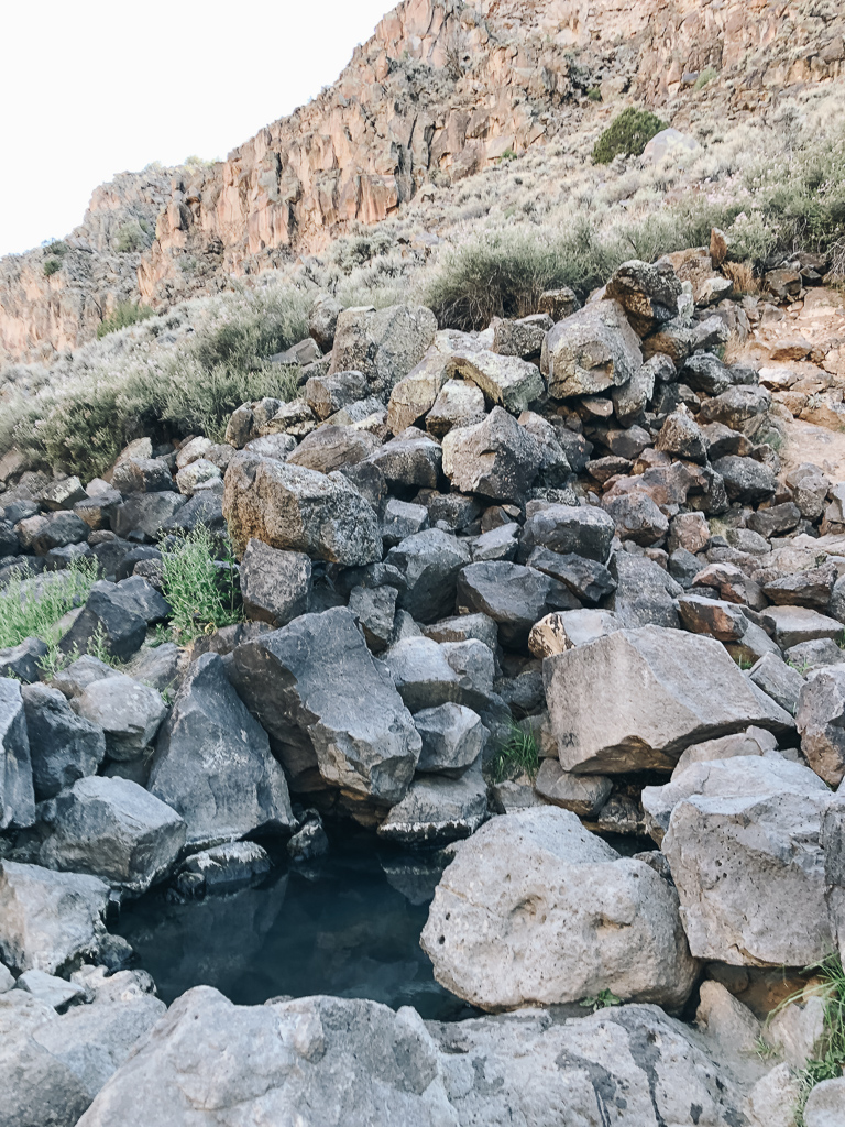 Black Rock hot springs pool in New Mexico