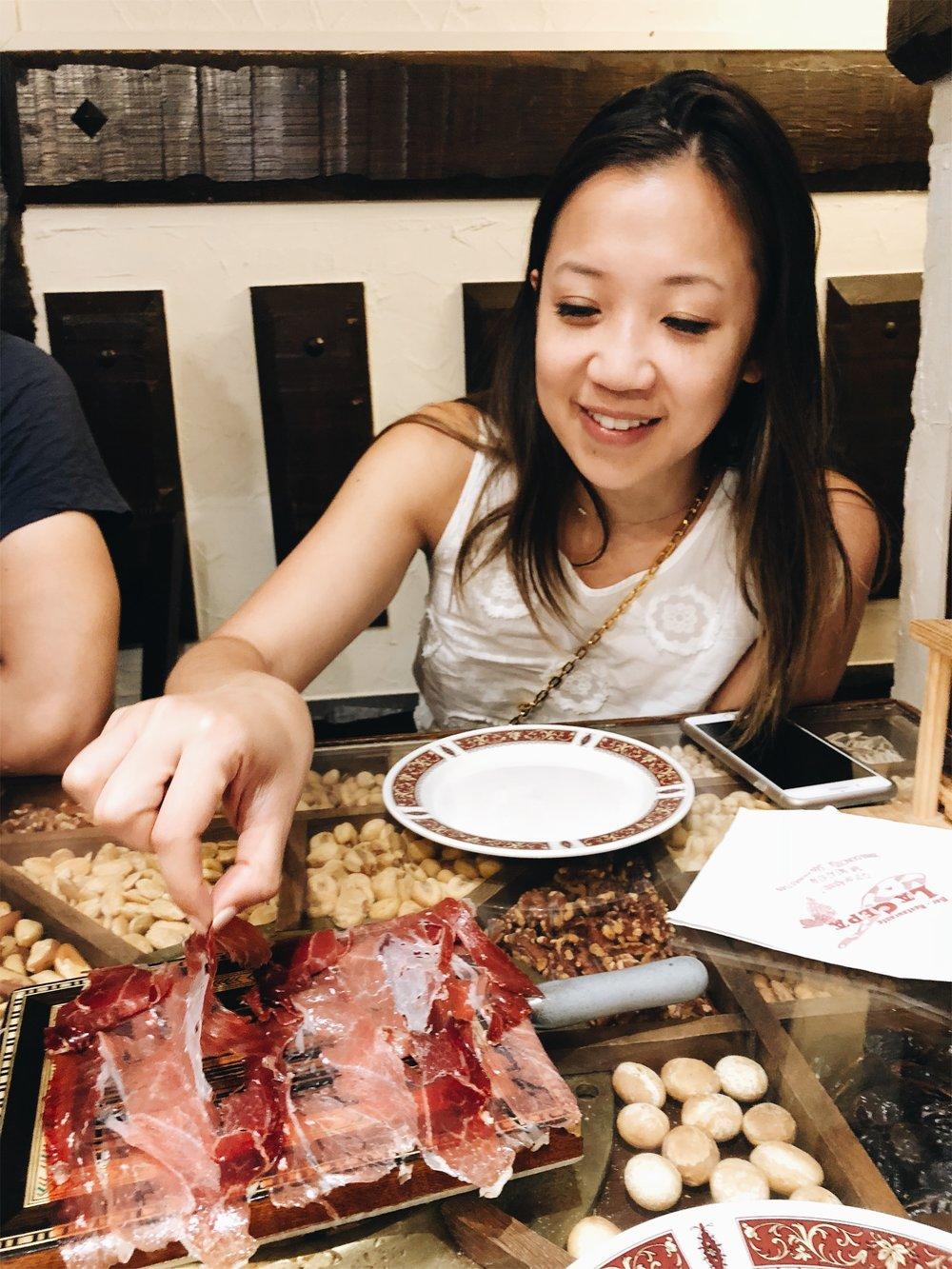 blogger's jamon platter at La Cepa San Sebastian