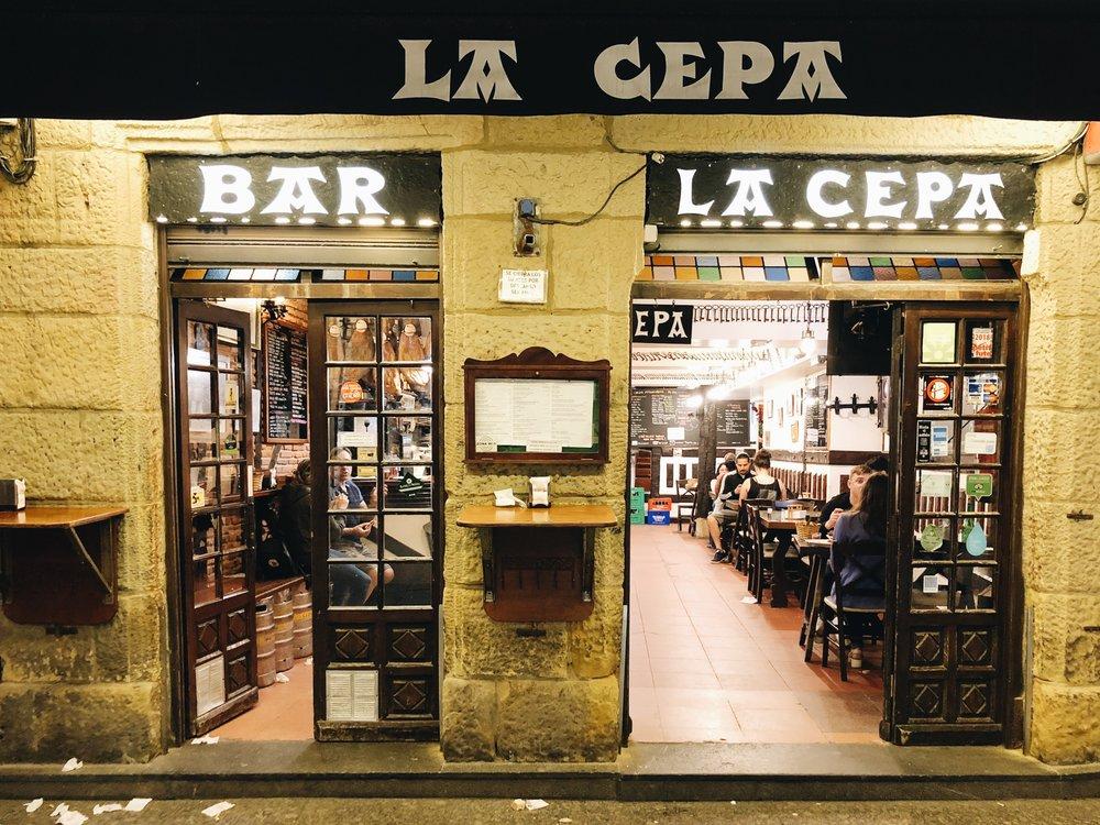 Bar La Cepa San Sebastian pintxo bar