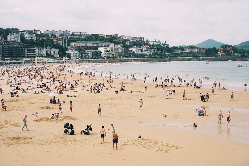 Playa La Concha, said to be one of Europe's best urban beaches.