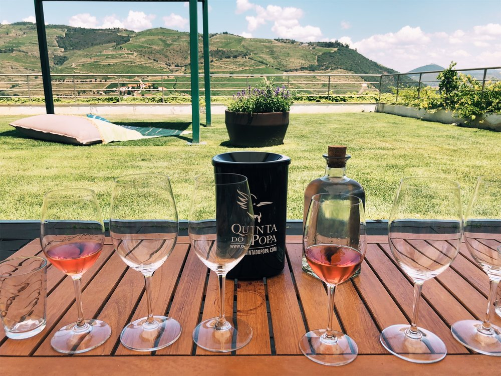Quinta de Popa winery red and rose wine tasting