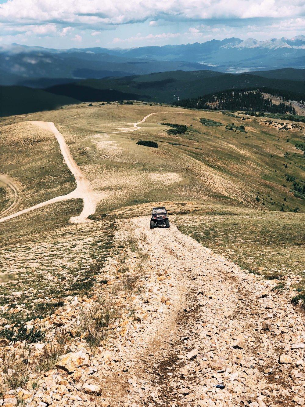 ATVing in mountains Buena Vista