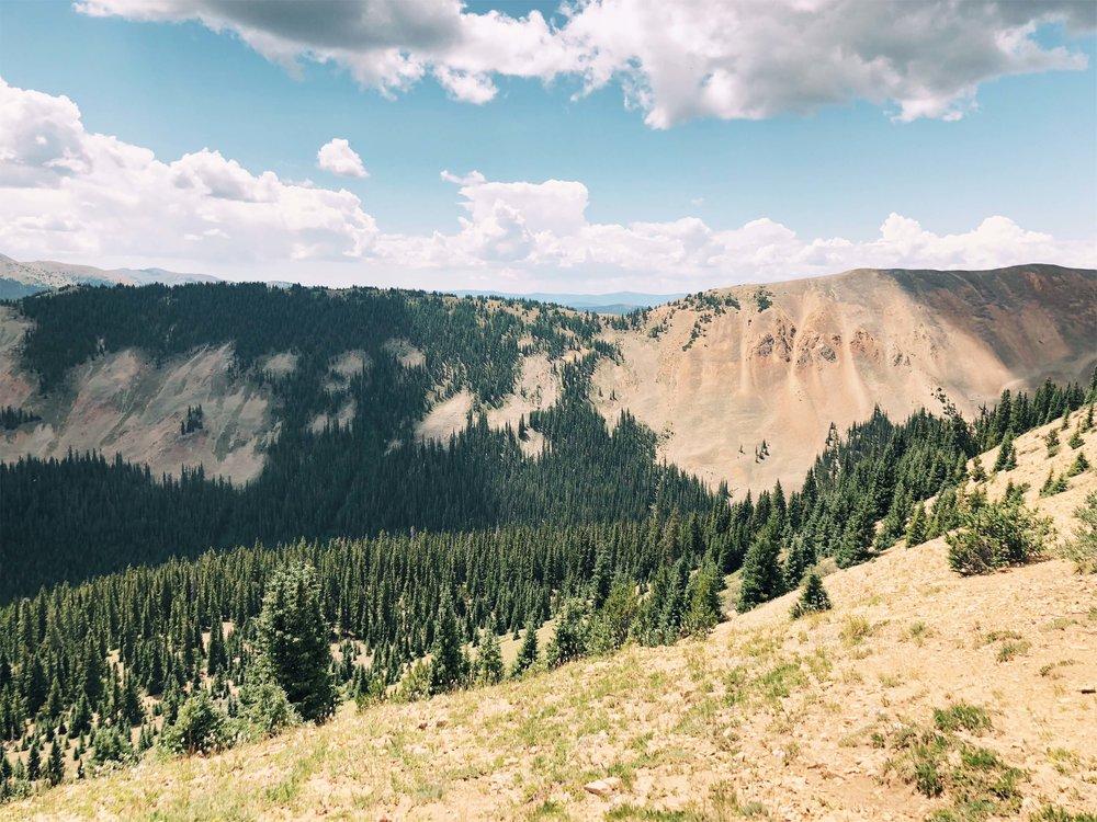 Colorado mountain range ATV St. Elmo's trail