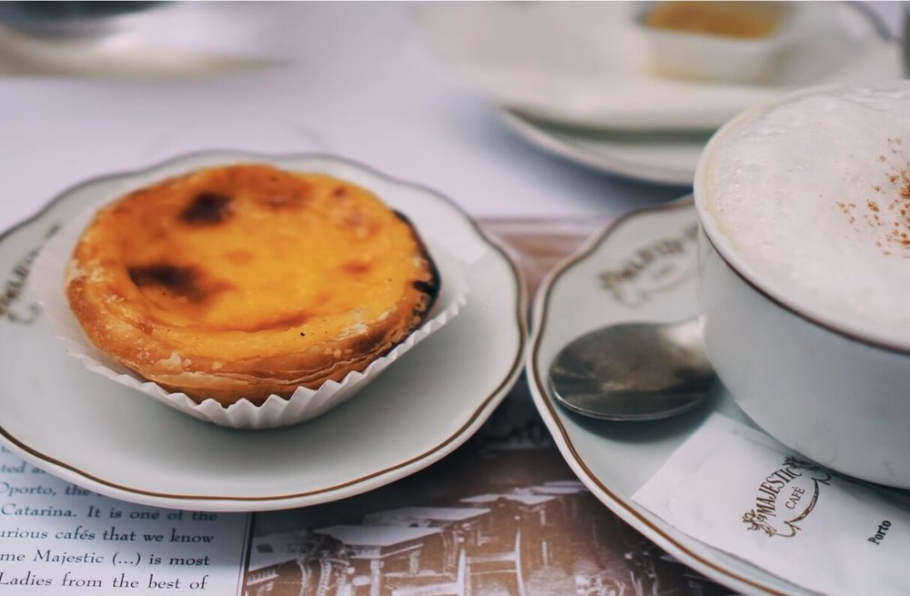 pasteis de nata at Majestic Cafe