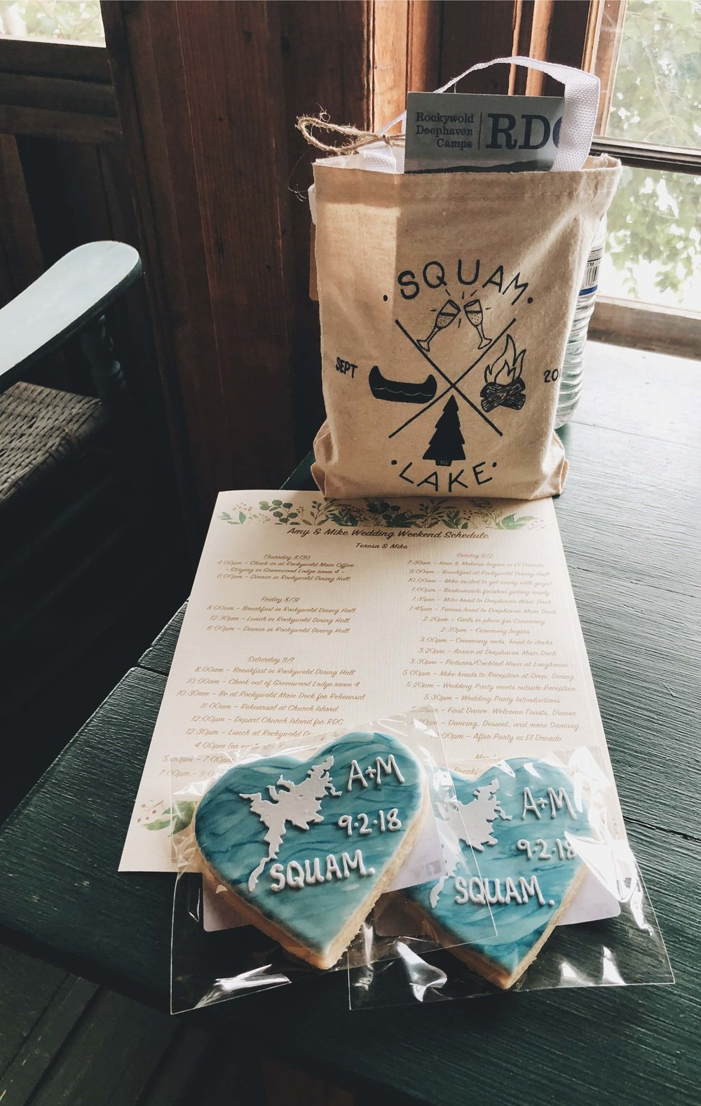 Squam Lake wedding welcome gifts