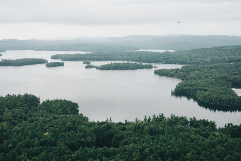 Rattlesnake Mountain hike view overlooking Squam Lake