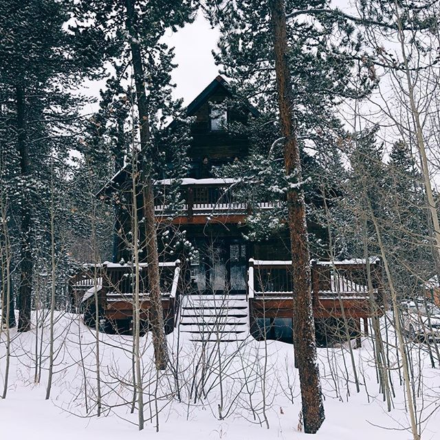 winter escape #colorado #breckenridge #cabin #mountaincabin