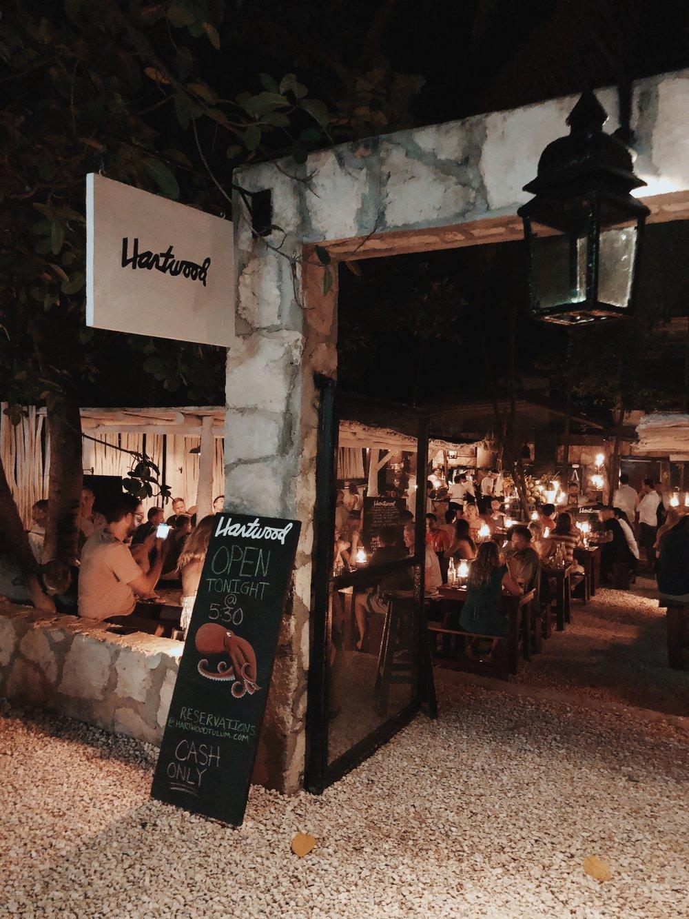 Hartwood Tulum restaurant