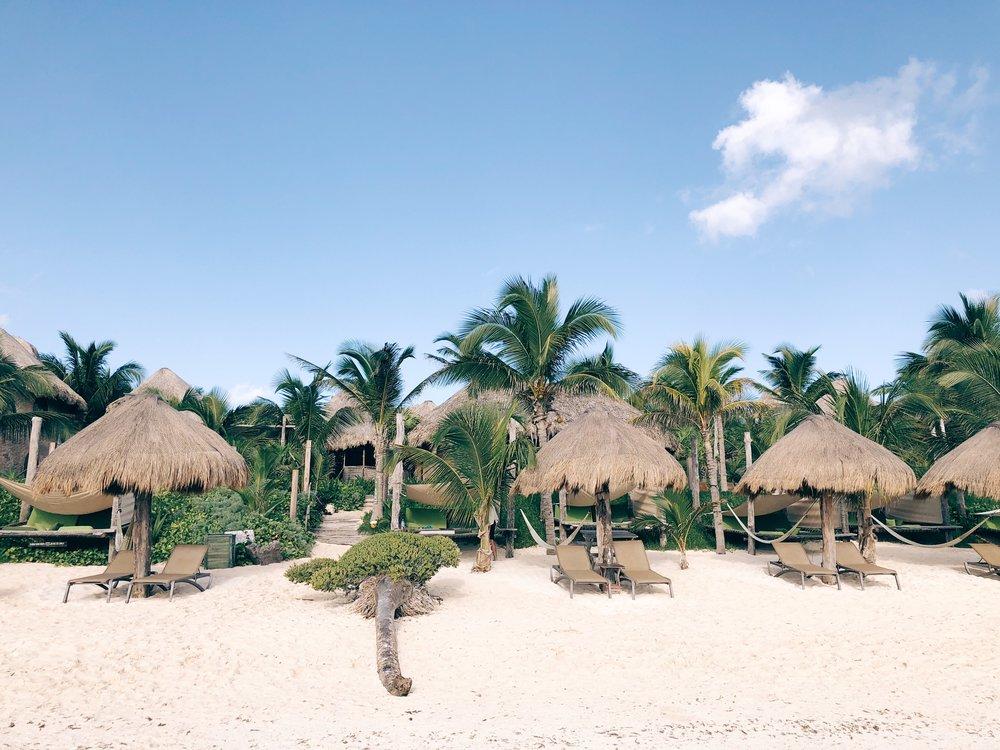 Tulum Suenos cabanas beach
