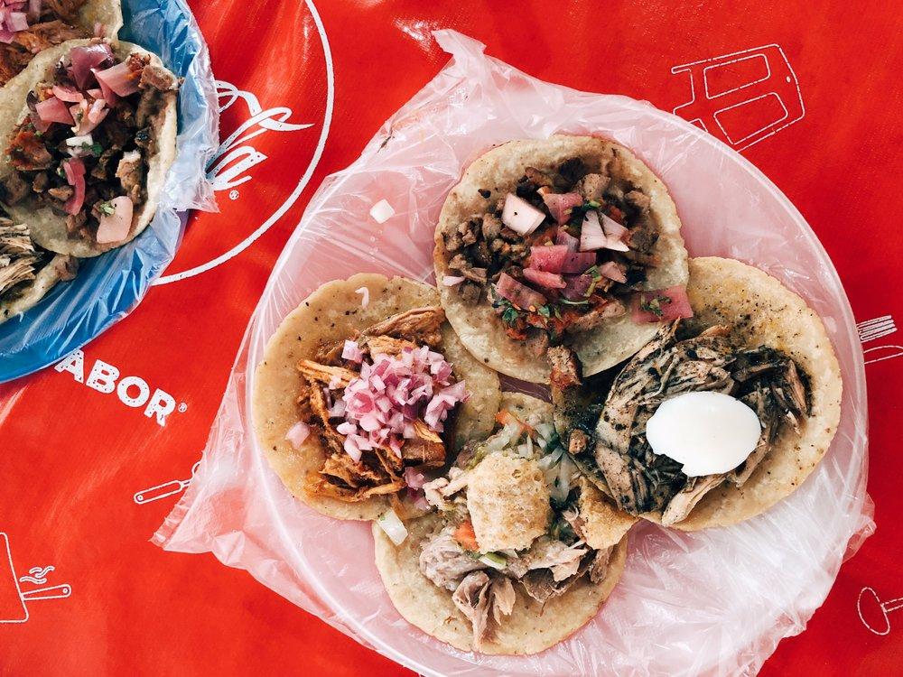 Tacos at Taqueria Honoria Tulum town