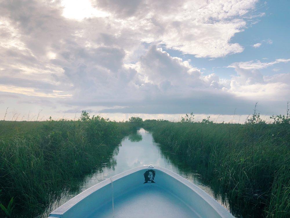 Boat to Si'an Ka'an Tulum