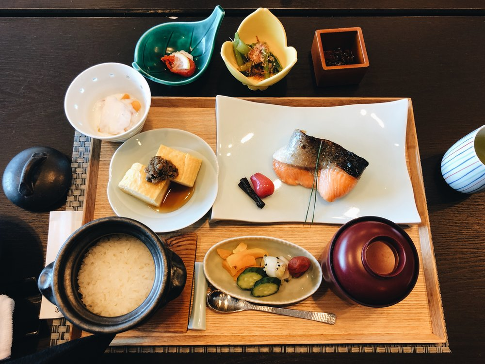 Japanese breakfast Kozantei Ubuya