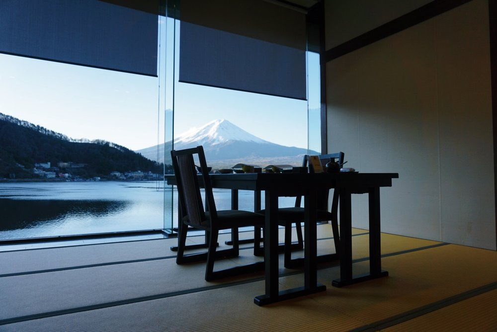 dining room Kozantei Ubuya view