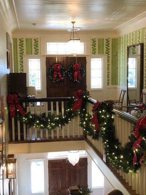 Upstairs Garland and Wreaths.jpg