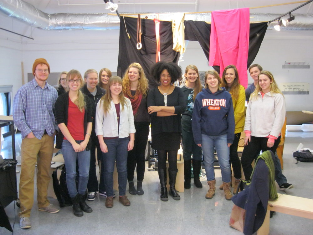 Rhonda (middle) with Wheaton College workshop participants.