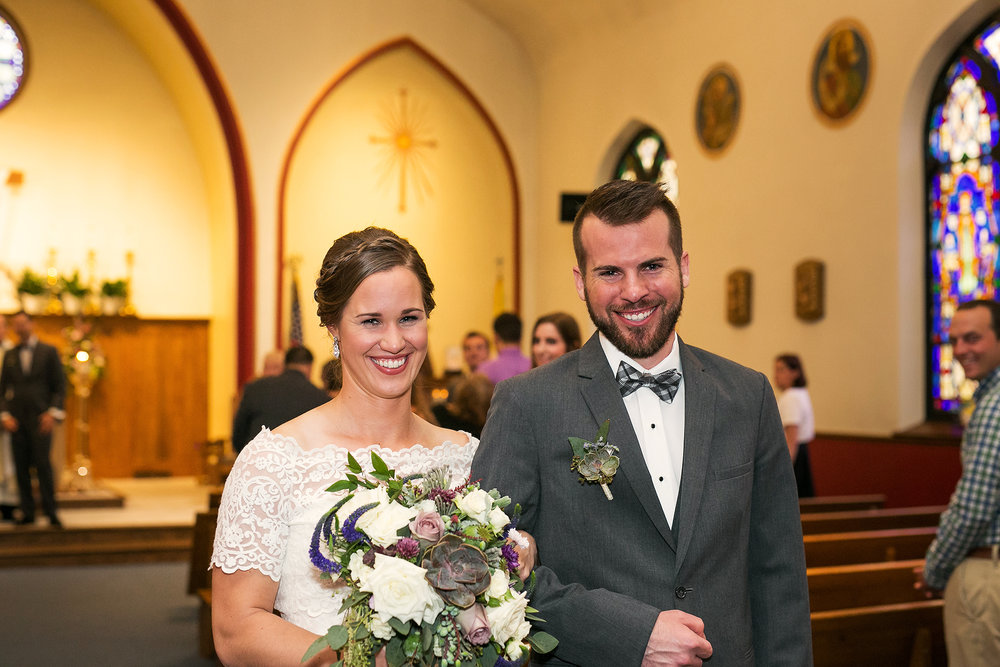 bride and groom as mr and mrs